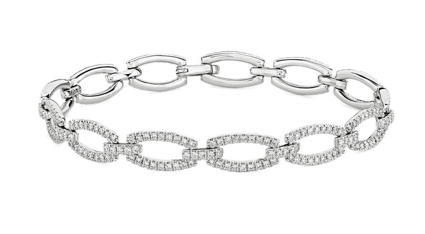 Blue Nile link bracelet