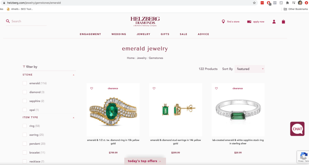 helzburg emeralds