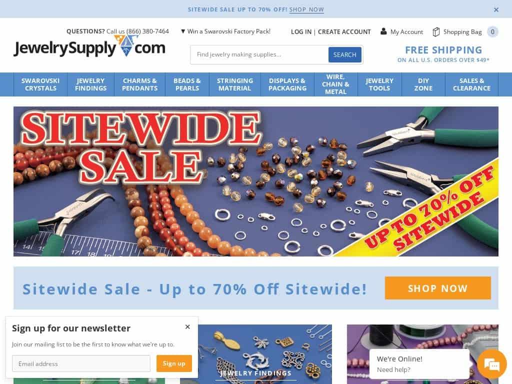 jewelry supplies online