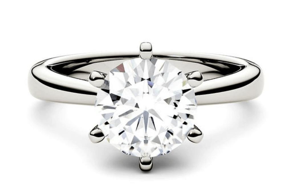 2-carat moissanite ring