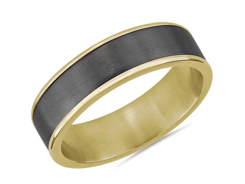Two-Tone Tantalum Inlay Wedding Ring