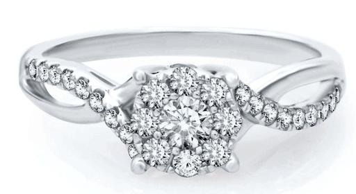 cluster ring setting diamond ring