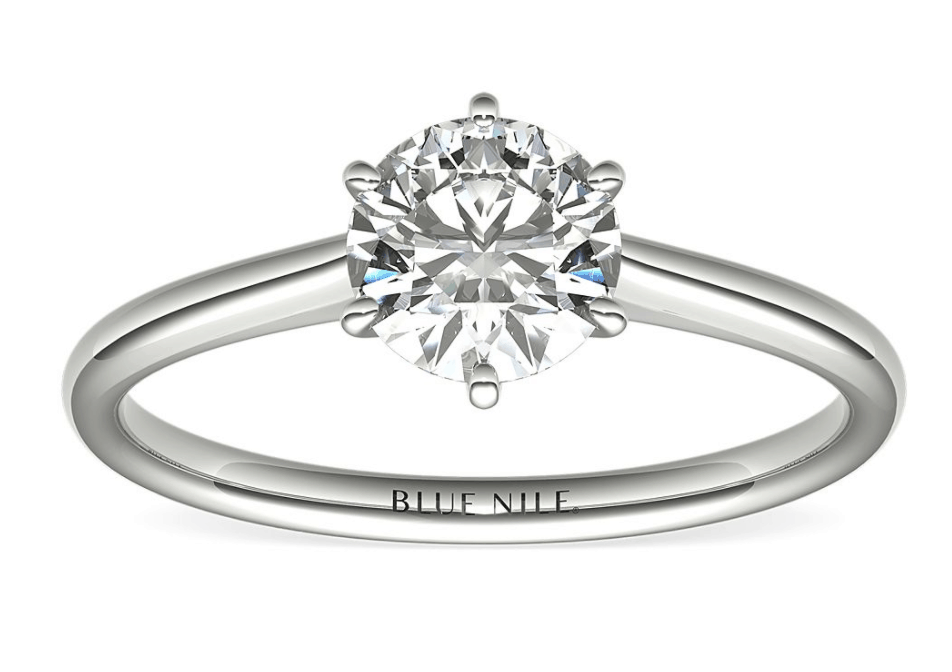 six prong diamond ring