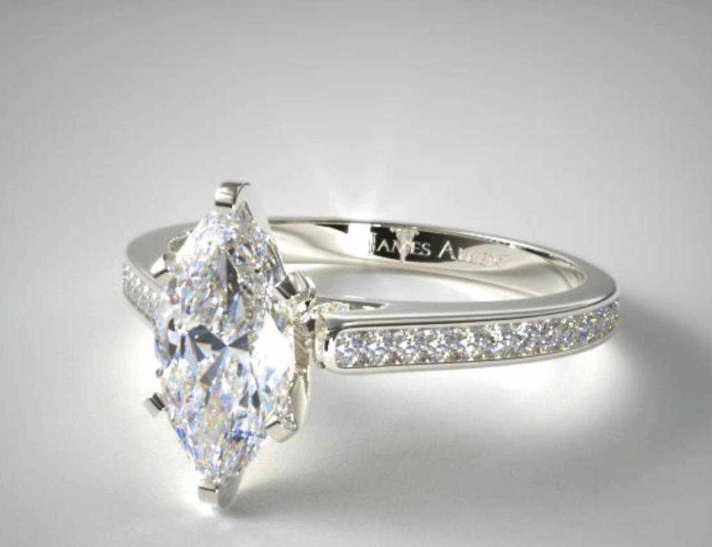 thinner band diamond ring