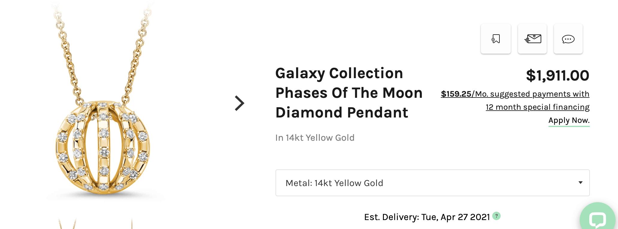 Ritani gold chain with pendant
