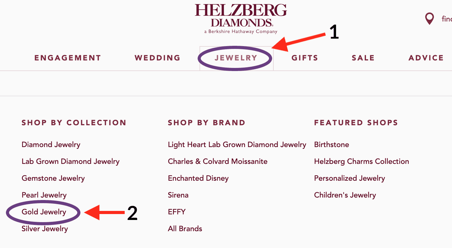 helzberg gold chains