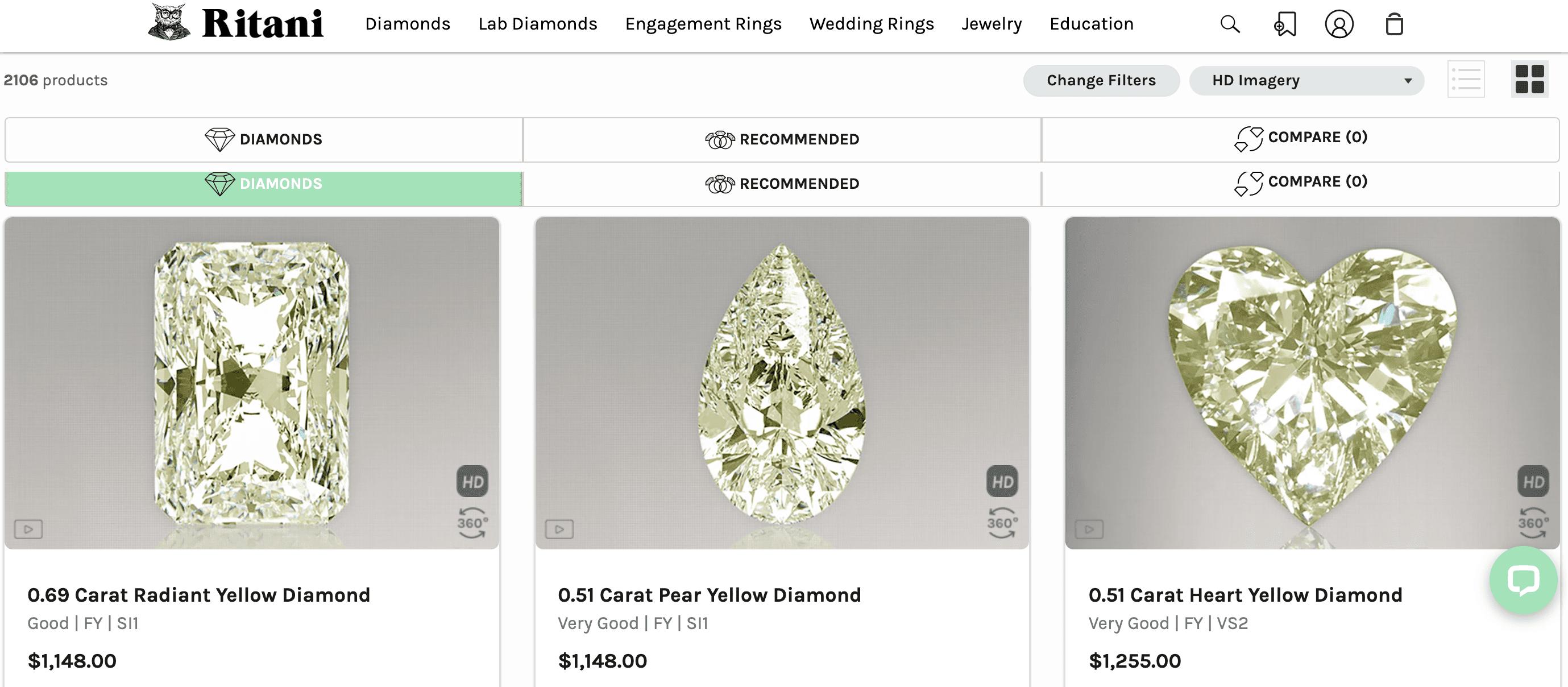 Buying Yellow Diamonds at Ritani