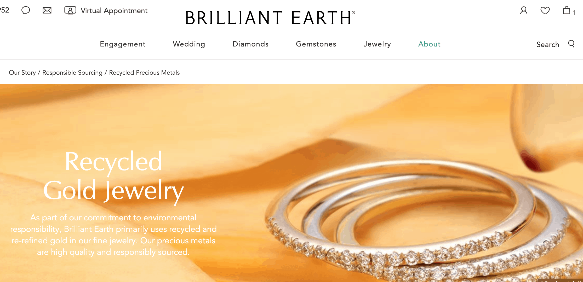 Brilliant Earth - Recycled Gold Jewelry