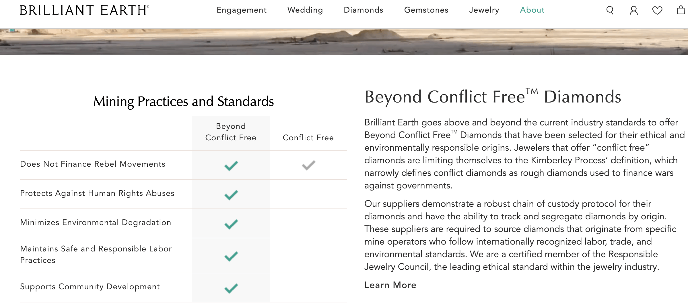 brilliant earth beyond conflict free info