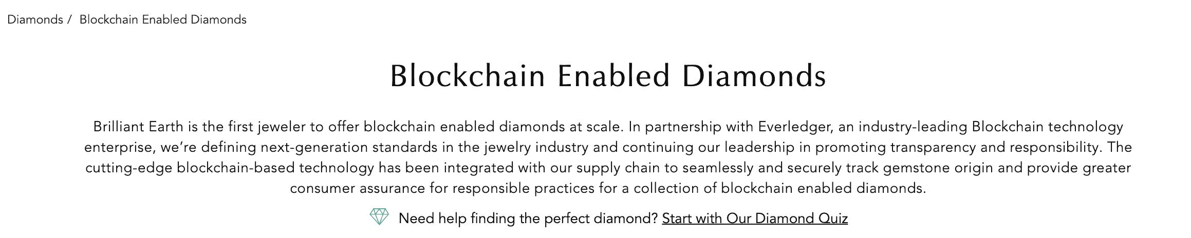 blockchain enabled diamonds info