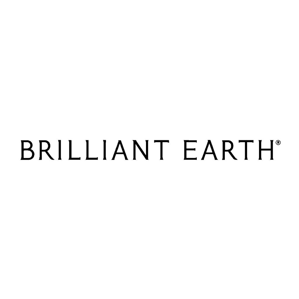 brilliant earth logo white background