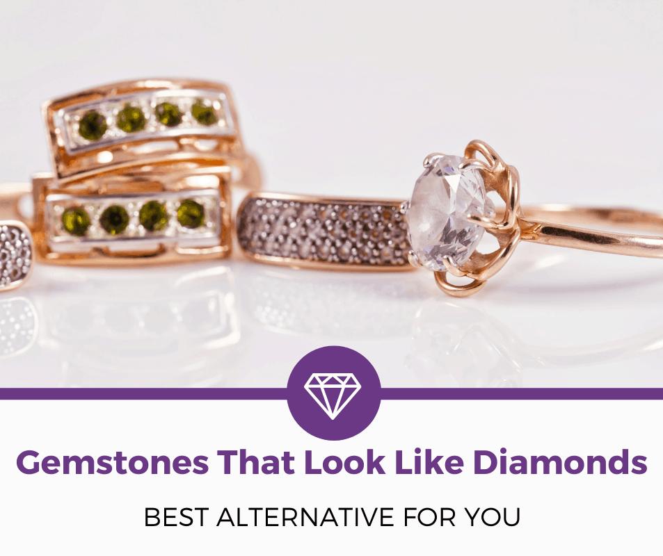 Gemstones that look like diamonds