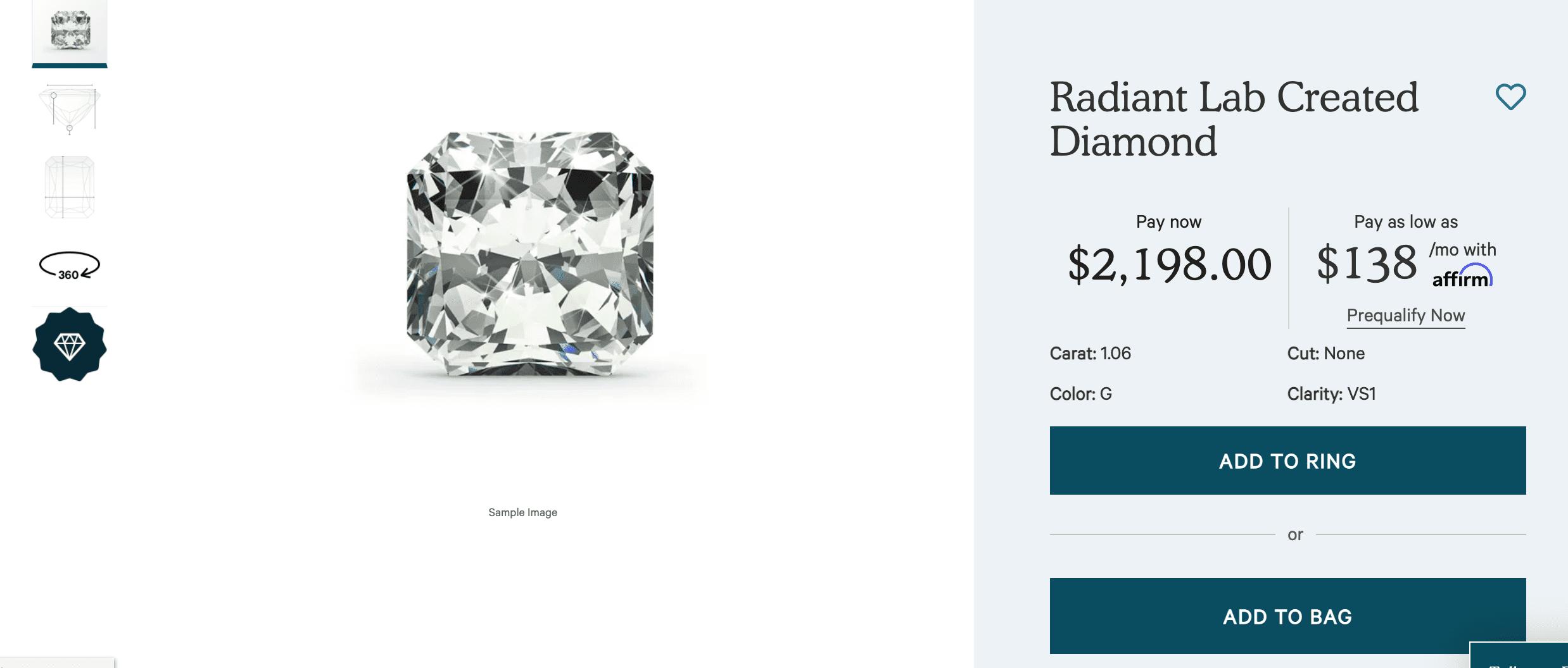 Radiant Lab Created Diamond