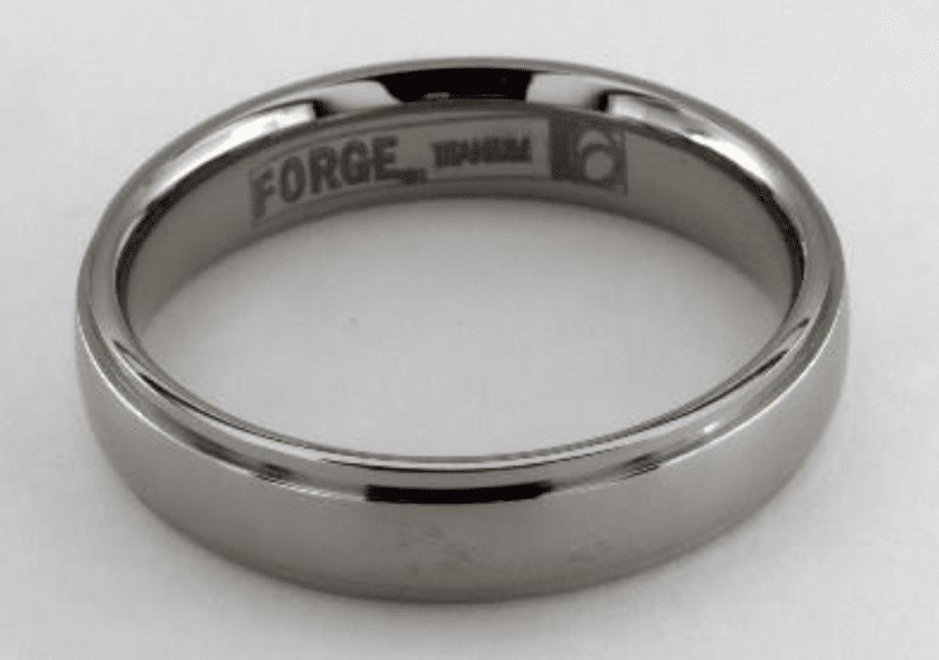 Titanium Step Edge Ring by James Allen