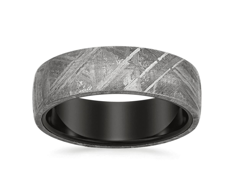 Meteorite & Tungsten Magnus Wedding Band by Brilliant Earth