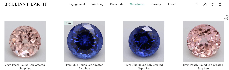 brilliant earth sapphire collection