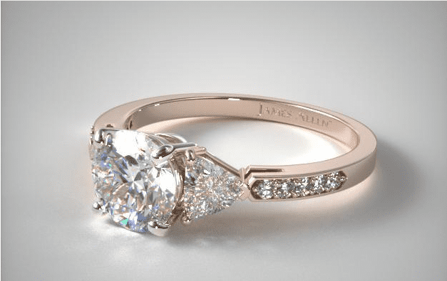 trillion cut diamond engagement ring